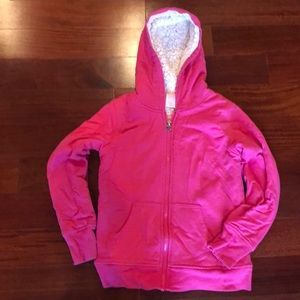 Girls 10-12 zip up hoodie pink sweatshirt